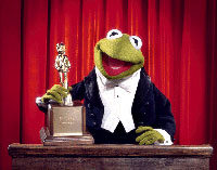 Kermit with Award